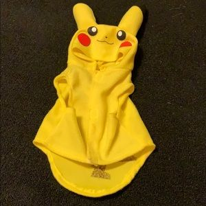 Pikachu pet costume hoodie